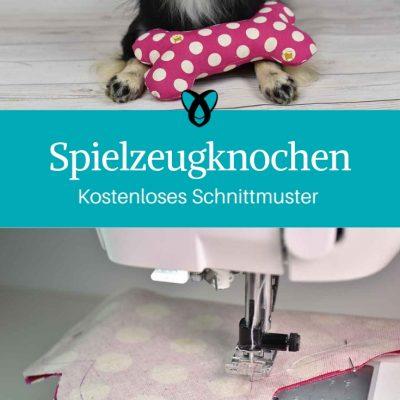 Spielzeugknochen Hundeknochen Nähen für Tiere für den Hund kostenlose Schnittmuster Gratis-Nähanleitung