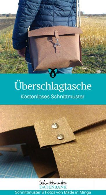 Überschlagtasche Messenger Bag Umhängetasche Laptoptasche Releda kostenlose Schnittmuster Gratis-Nähanleitung
