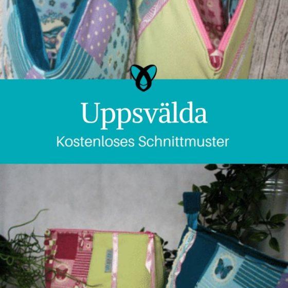 Uppsvälda Schminktasche Etui Reißverschlusstasche Kulturbeutel kostenlose Schnittmuster Gratis-Nähanleitung