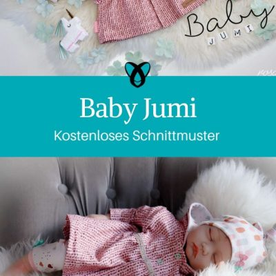 Babyjacke Babymantel Nähen fürs Baby Erstausstattung Geschenke zur Geburt kostenlose Schnittmuster Gratis-Nähanleitung