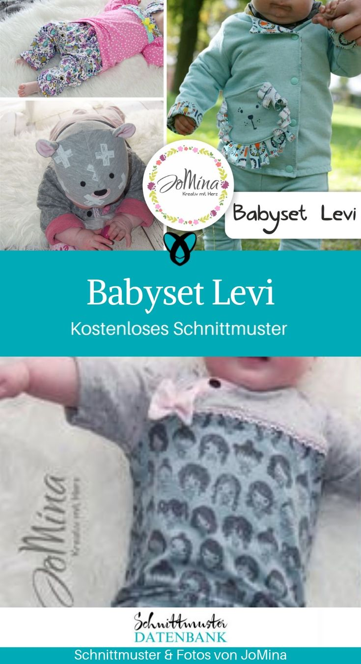 Babyset Babyshirt Babyhose Babyjacke Erstausstattung Geschenke zur Geburt kostenlose Schnittmuster Gratis-Nähanleitung