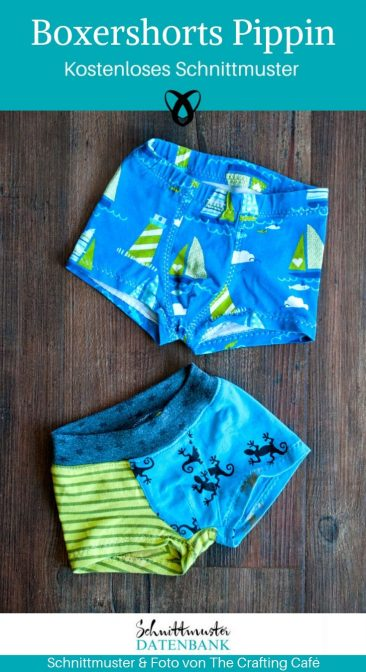 Boxershorts Kinder Badehose kurze Hose kostenlose Schnittmuster Gratis-Nähanleitung
