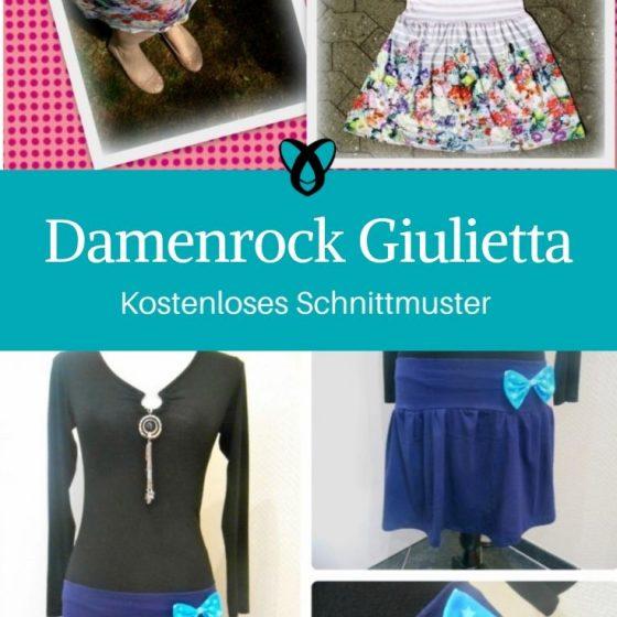 Damenrock Sommerrock Damenbekleidung kostenlose Schnittmuster Gratis-Nähanleitung