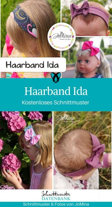 Haarband Kopfschmuck Baby Erstausstattung kostenlose Schnittmuster Gratis-Nähanleitung