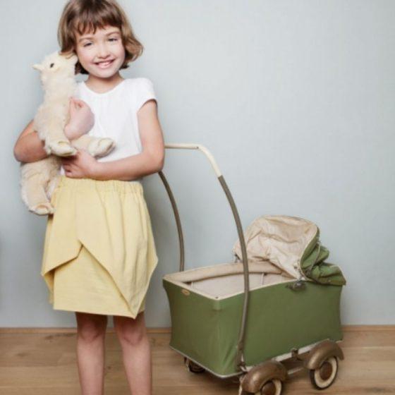 Origamirock Kinderrock Nähen für Kinder Sommerrock kostenlose Schnittmuster Gratis-Nähanleitung