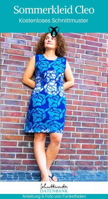 Sommerkleid Damenkleid kostenlose Schnittmuster Gratis-Nähanleitung
