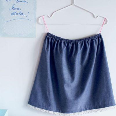 Sommerrock Damenrock einfacher Rock Damenbekleidung kostenlose Schnittmuster Gratis-Nähanleitung