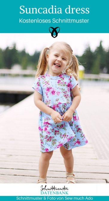 Suncadia Dress Sommerkleid Kinderkleid Jerseykleid kostenlose Schnittmuster Gratis-Nähanleitung