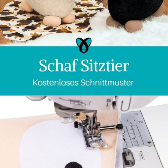 schaf sitztier kuscheltier xxl plüschschaf groß nähen für kinder kostenloses schnittmuster gratis-nähanleitung
