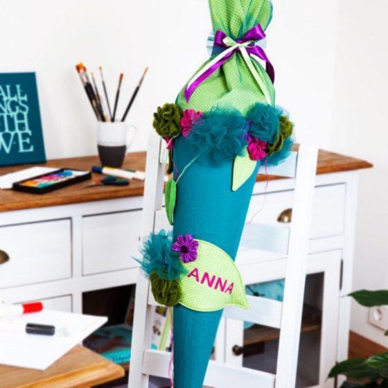 schultüte zuckertüte einschulung nähen fürs kind schulanfang kostenloses Schnittmuster Gratis-Nähanleitung