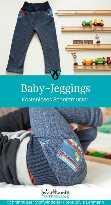 Jeggings Jeggins Hose Babyhose für Babys mit Füßen kostenloses Schnittmuster gratis kostenlos nähen Stoffwindelei erstlingsset