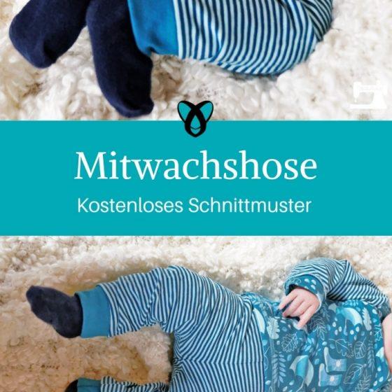 Mitwachshose Babyhose Hose für Babys kostenloses Schnittmuster gratis kostenlos nähen Stoffwindelei erstlingsset