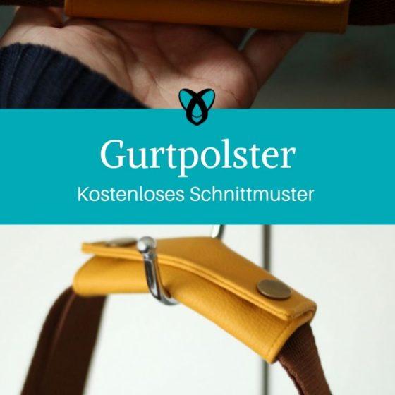 Gurtpolster Tragehilfe Taschen kostenlose Schnittmuster Gratis-Nähanleitung