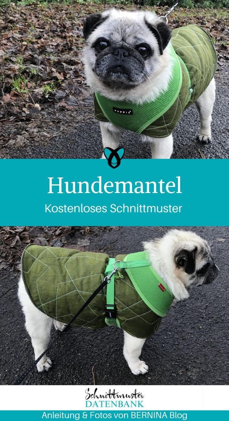 Hundemantel Hundekleidung Nähen für Hunde Haustier kostenlose Schnittmuster Gratis-Nähanleitung