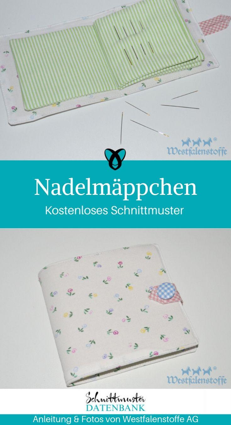 Nadelmäppchen Etui für Nadeln Tools zum Nähen kostenlose Nähanleitung Gratis-Nähanleitung