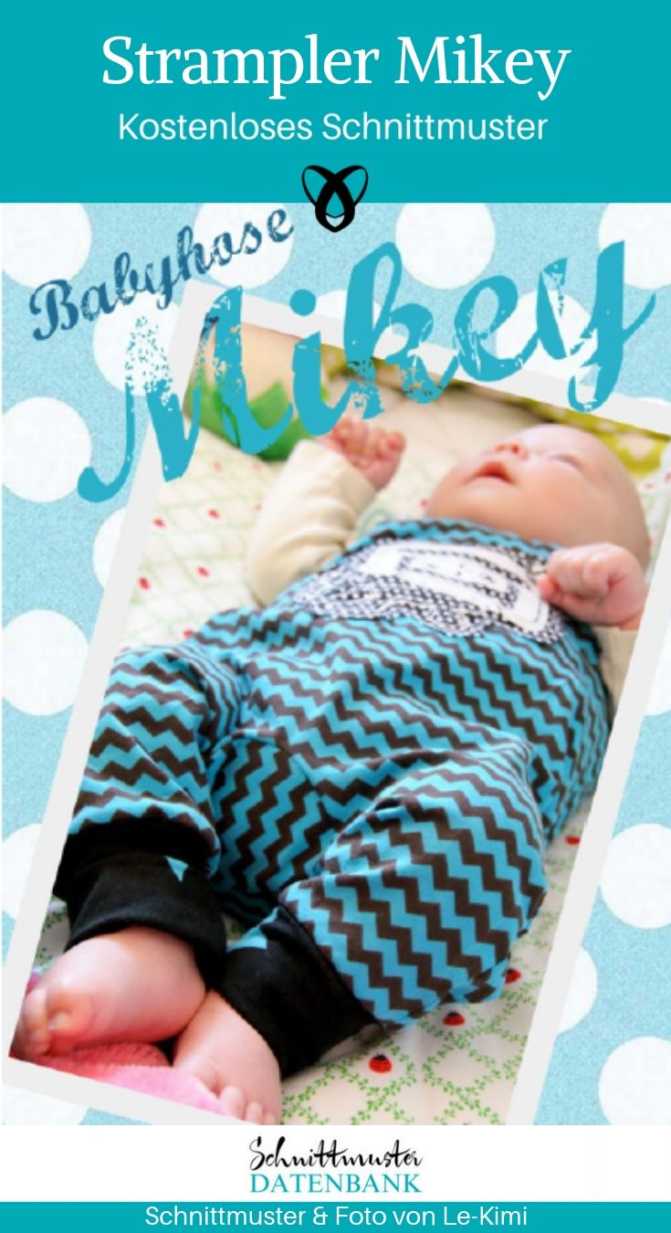 Babystrampler Strampler Erstaustattung Baby Geschenk zur Geburt Babyhose kostenlose Schnittmuster Gratis-Nähanleitung