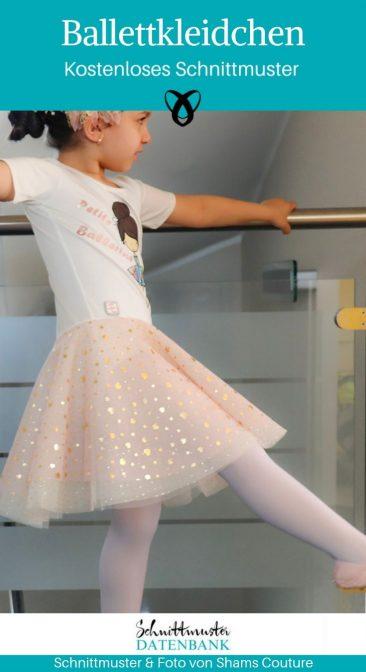 Ballettkleidchen Ballettkleid Tanzkleid Tütü Mädchenkleid kostenlose Schnittmuster Gratis-Nähanleitung