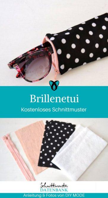 Brillenetui kleine Tasche Brillentasche kostenlose Schnittmuster Gratis-Nähanleitung