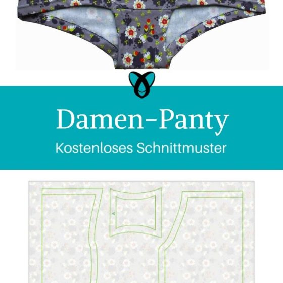 Damen Panty Unterhose Unterwäsche Slip kostenlose Schnittmuster Gratis-Nähanleitung