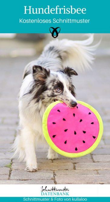 Hundefrisbee Hundespielzeug Nähen Haustier kostenlose Schnittmuster Gratis-Nähanleitung
