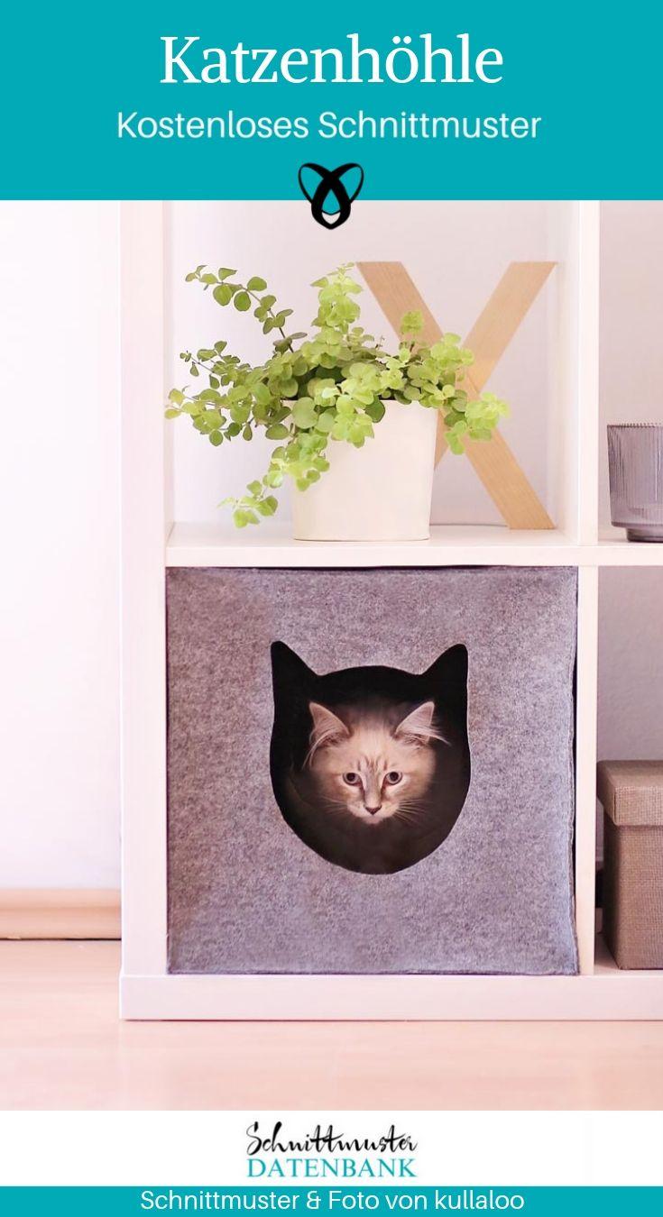 Katzenhöhle Kuschelhöhle Billy Kallax Nähen Haustier kostenlose Schnittmuster Gratis-Nähanleitung