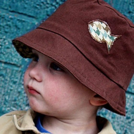 Kinder Anglerhut Bucket Hat Sommerhut Sonnenhut Kinder kostenlose Schnittmuster Gratis-Nähanleitung