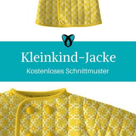 Kleinkindjacke Kimonojacke Kinder wattierte Jacke kostenlose Schnittmuster Gratis-Nähanleitung