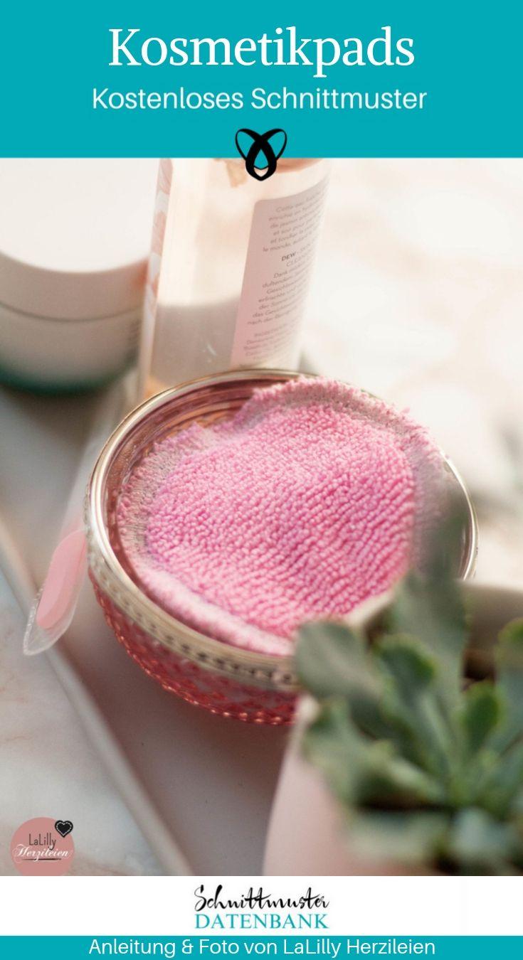 Kosmetikpads Upcycling Nachhaltigkeit Nähen kostenlose Schnittmuster Gratis-Nähanleitung Abschminktücher