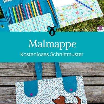 Malmappe Etui Malen Malblock Stifte Mappe Nähen für Kinder kostenlose Schnittmuster Gratis-Nähanleitung