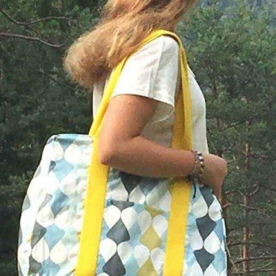 XXL Tasche Große Tasche Strandtasche Reisetasche MaryBe kostenlose Schnittmuster Gratis-Nähanleitung