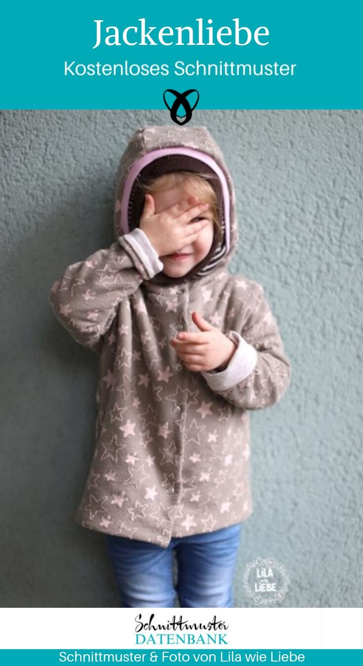 Jackenliebe Kapuzenjacke Kinderjacke Outdoorjacke kostenlose Schnittmuster Gratis-Nähanleitung