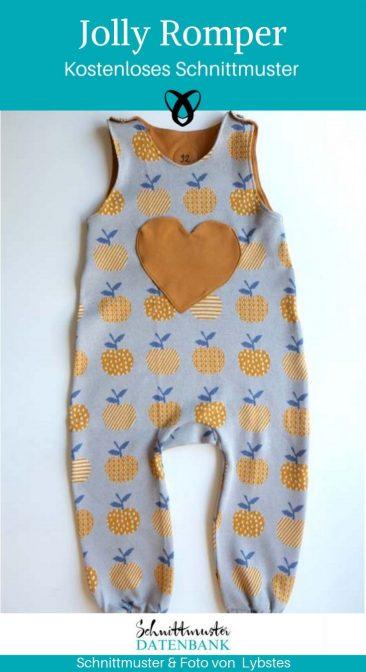 Jolly Romper Strampler Anzug Baby Nähen Erstausstattung zur Geburt kostenlose Schnittmuster Gratis-Nähanleitung