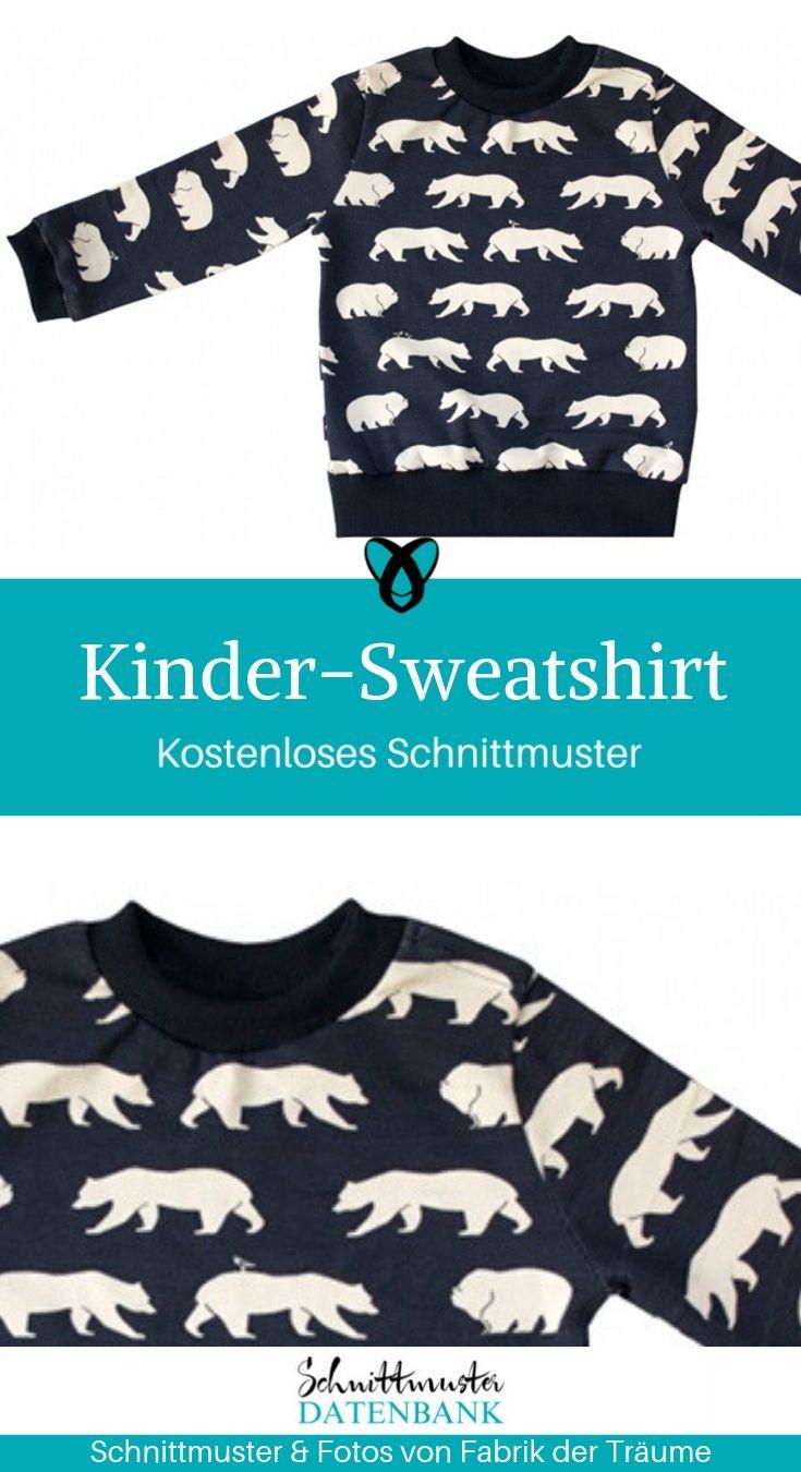 Kinder Sweatshirt Schnittmuster Datenbank