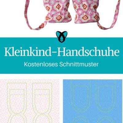 Kleinkind Handschuhe Kinderhandschuhe Fäustlinge kostenlose Schnittmuster Gratis-Nähanleitung