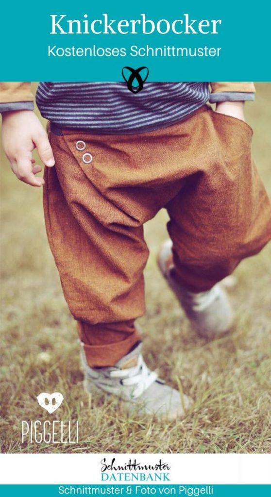 Mitwachsende Knickerbocker Pumphose Jerseyhose Kinderhose Nähen für Kinder kostenlose Schnittmuster Gratis-Nähanleitung