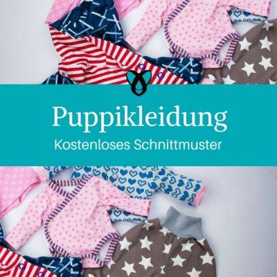Puppikleidung Puppenkleidung Klimperklein kostenlose Schnittmuster Gratis-Nähanleitung