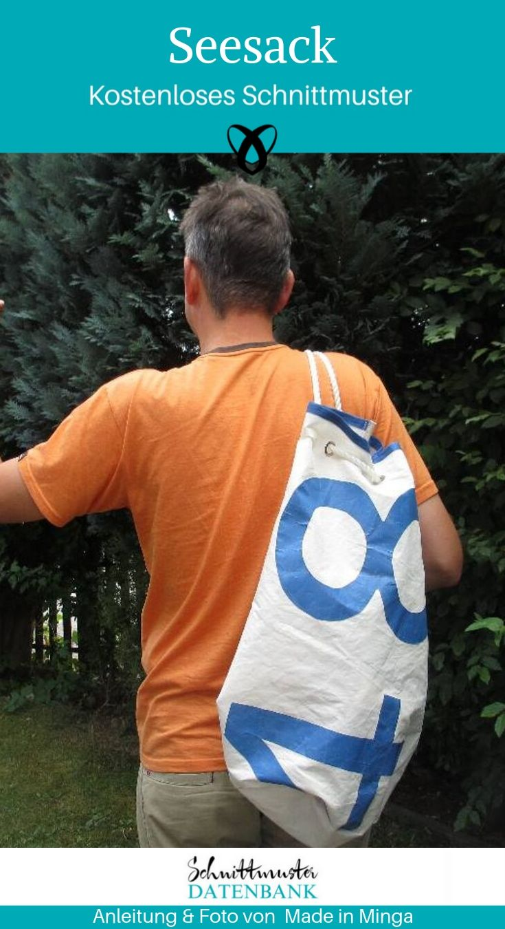 Seesack Beutel Reisetasche kostenlose Schnittmuster Gratis-Nähanleitung