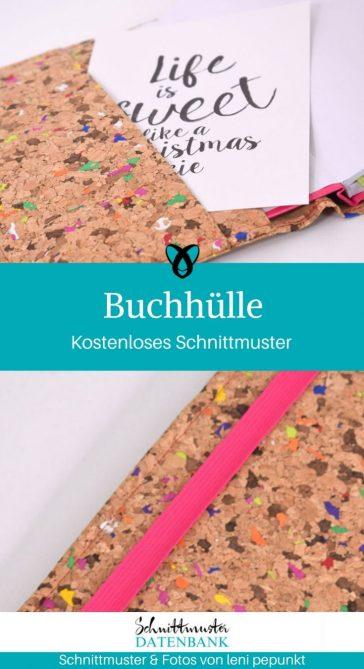 Buchhülle Kalenderhülle Umschlag Buchumschlag kostenlose Schnittmuster Gratis-Nähanleitung