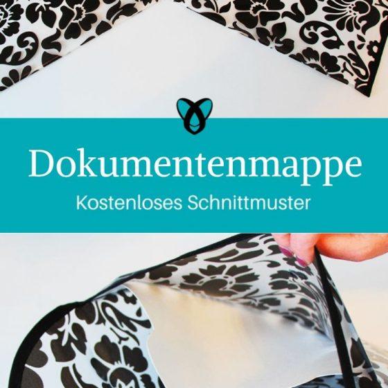 Dokumentenmappe Schnittmustermappe Folder Mappe Umschlag Aufbewahrung kostenlose Schnittmuster Gratis-Nähanleitung