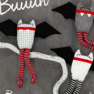 Fledermäuse Fledermaus Halloween Nähen kostenlose Schnittmuster Gratis-Nähanleitung