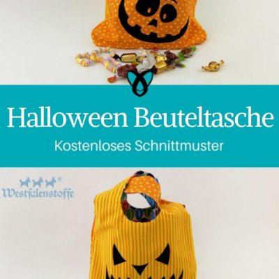 Halloween Tasche beutel süßes oder saures kostenlose Schnittmuster Gratis-Nähanleitung