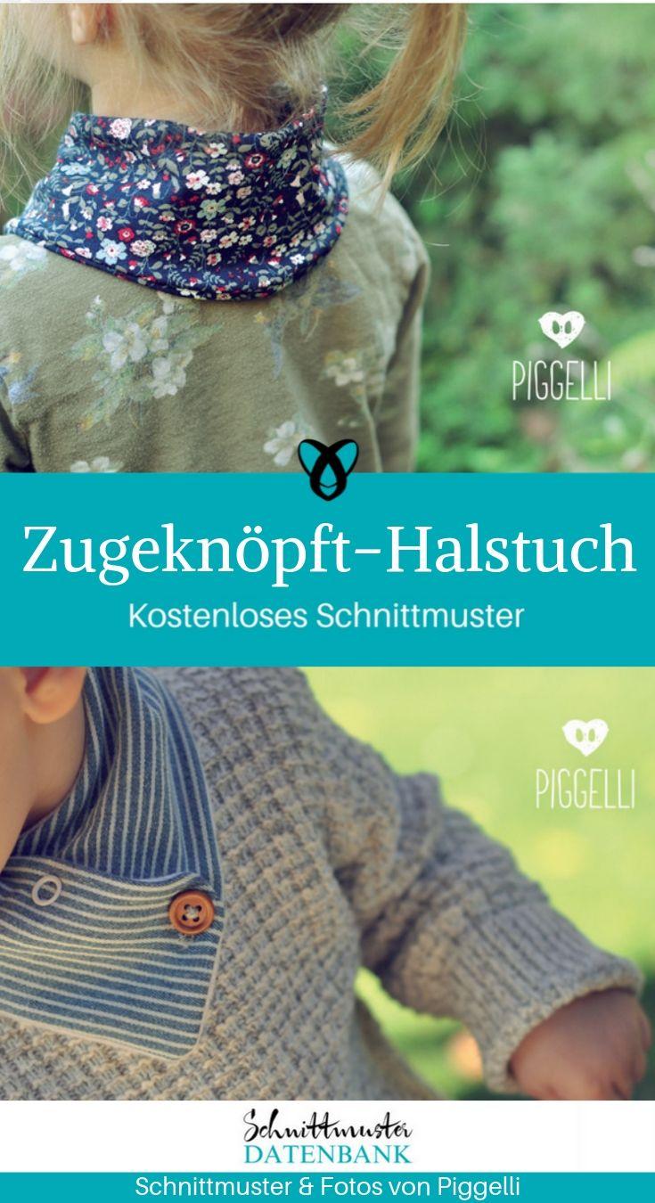 Halstuch Tragekinder Dreiecktuch kostenlose Schnittmuster Gratis-Nähanleitung