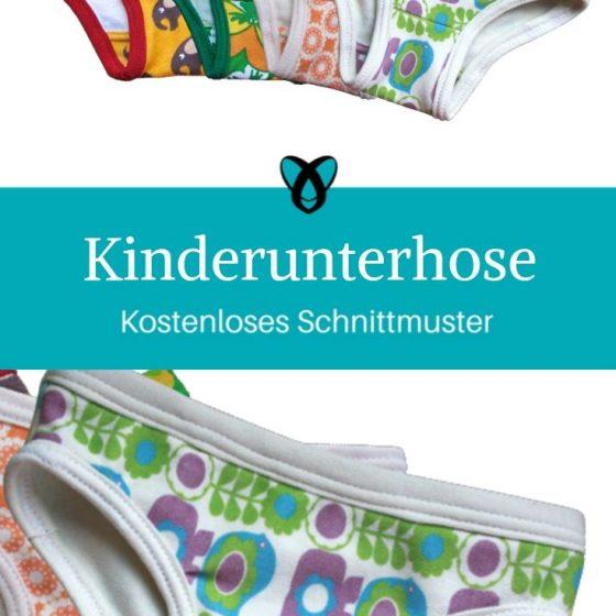 Kinderunterhose Kinderunterwäsche Höschen kostenlose Schnittmuster Gratis-Nähanleitung