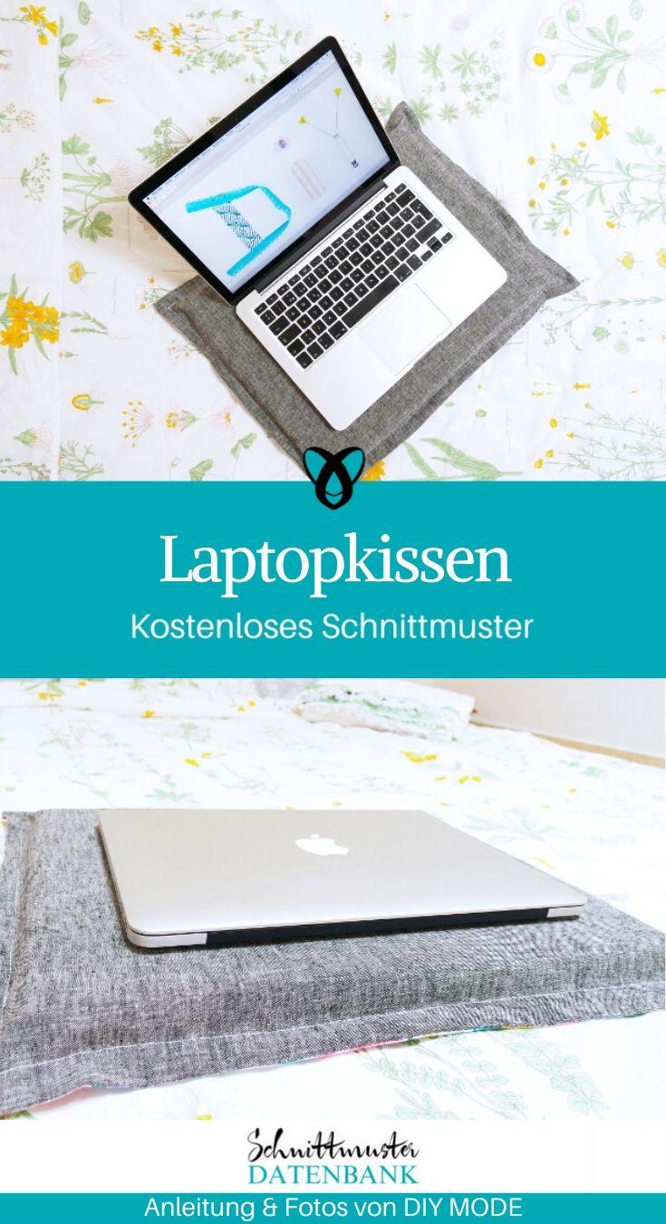 Laptopkissen Lesekissen Couchtablett kostenlose Schnittmuster Gratis-Nähanleitung