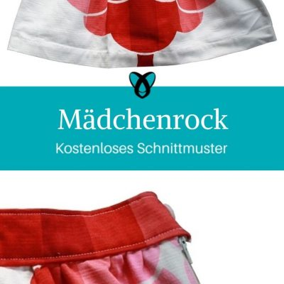Mädchenrock Minirock kostenlose Schnittmuster Gratis-Nähanleitung