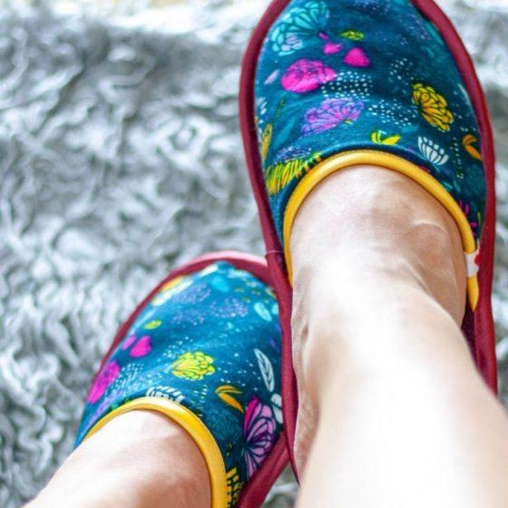 Pantoffeln Hausschuhe Slipper kostenlose Schnittmuster Gratis NÄhanleitung