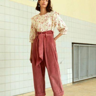 Paperbag Hose weite Hose Damenhose kostenlose Schnittmuster Gratis-nähanleitung