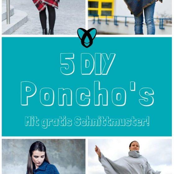 Poncho-naehen-gratis-Schnittmuster-Cape-Überwurf-mit-Kapuze-Kragen-rund-spitz-Decke-Knopfleiste-Nähidee-Herbst-Winter-für-damen-Erwachsene-Kleidung