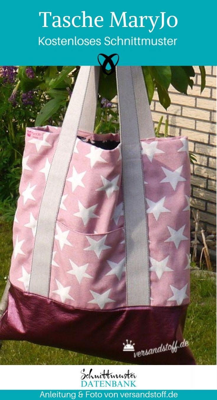 Shopping Bag MaryJo Umhängetasche Handtasche kostenlose Schnittmuster Gratis-Nähanleitung