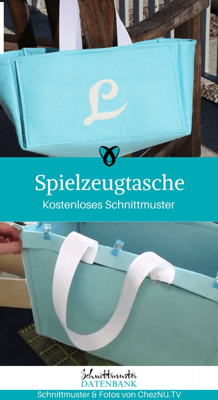 Spielzeugtasche Autotasche Tasche Toybay kostenlose Schnittmuster Gratis-Nähanleitung